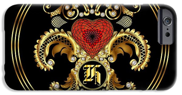 Waiter Mixed Media iPhone Cases - Monogram H BF Throw Pillow iPhone Case by Bill Campitelle