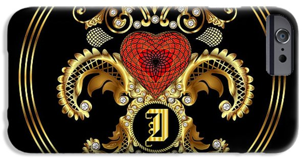 Waiter Mixed Media iPhone Cases - Monogram I BF Throw Pillow iPhone Case by Bill Campitelle