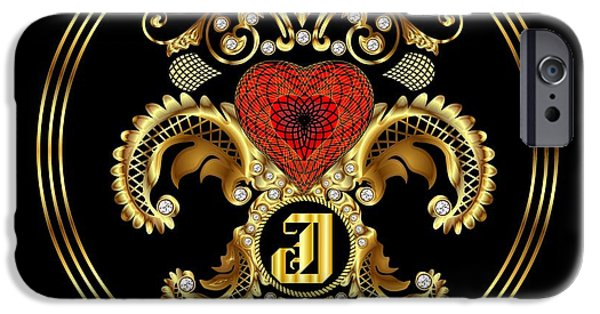 Waiter Mixed Media iPhone Cases - Monogram J BF Throw Pillow iPhone Case by Bill Campitelle