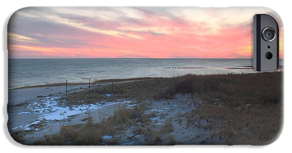 Chatham iPhone Cases - Monomoy National Wildlife Refuge Cape Cod Sunset iPhone Case by John Burk