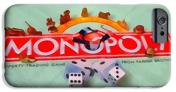 Monopoly iPhone Cases - Monopoly Board Game iPhone Case by Dan Sproul