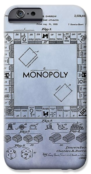 Toy Store iPhone Cases - Monopoly Board Game Patent iPhone Case by Dan Sproul