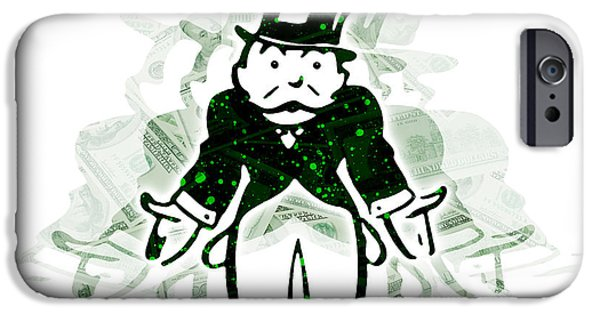 Monopoly iPhone Cases - Monopoly Man - Tax iPhone Case by Stephen Younts