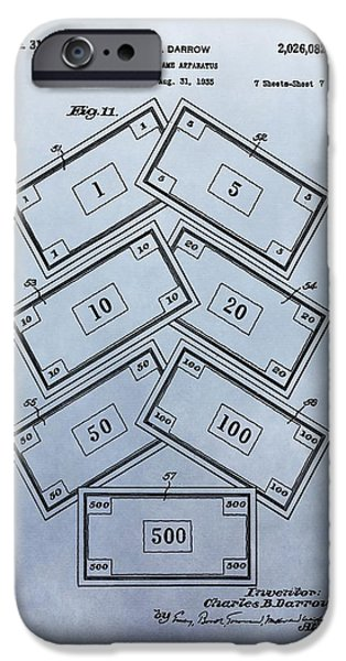 Toy Shop iPhone Cases - Monopoly Money Patent iPhone Case by Dan Sproul