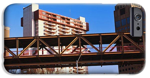 Connection iPhone Cases - Monorail System In Memphis, Tennessee iPhone Case by Panoramic Images