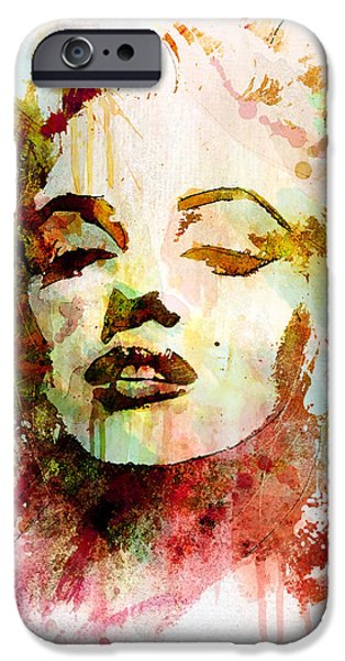 Marilyn Portrait iPhone Cases - Monroe iPhone Case by Gary Bodnar
