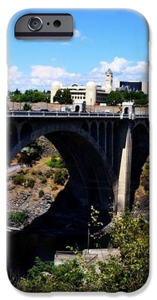 Monroe Street Bridge - Spokane iPhone Case by Michelle Calkins