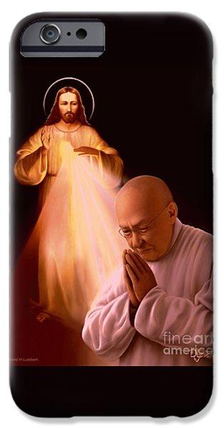 Divine Mercy iPhone Cases - Monsignor Blacet iPhone Case by Dave Luebbert