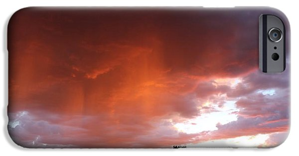 West Fork iPhone Cases - Monsoon Sunset iPhone Case by FlyingFish Foto