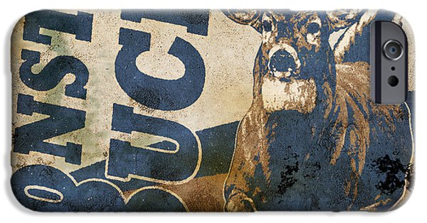 Sign iPhone Cases - Monster Buck Deer Sign iPhone Case by JQ Licensing
