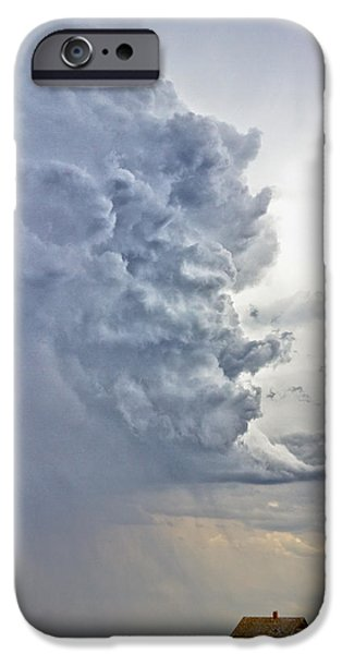 Corporate Art Photographs iPhone Cases - Monster Cloud Country iPhone Case by James BO  Insogna