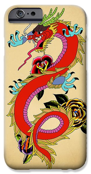 Animation iPhone Cases - Monster Dragon  iPhone Case by Mark Ashkenazi