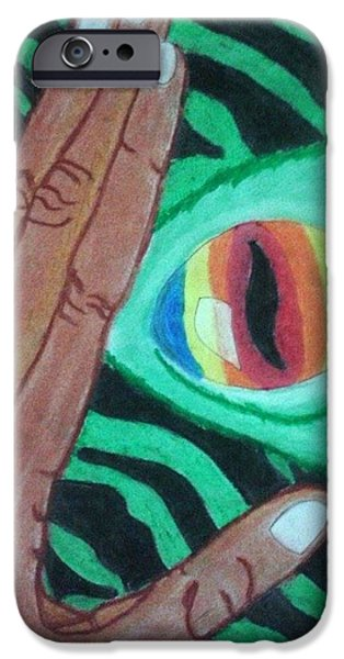 Creepy Pastels iPhone Cases - Monster in Me iPhone Case by Al-ameen Asmad