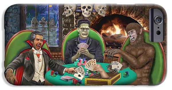 Creepy iPhone Cases - Monster Poker iPhone Case by Glenn Holbrook