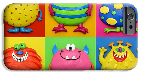 Animal Cards Sculptures iPhone Cases - Monsters iPhone Case by Amy Vangsgard