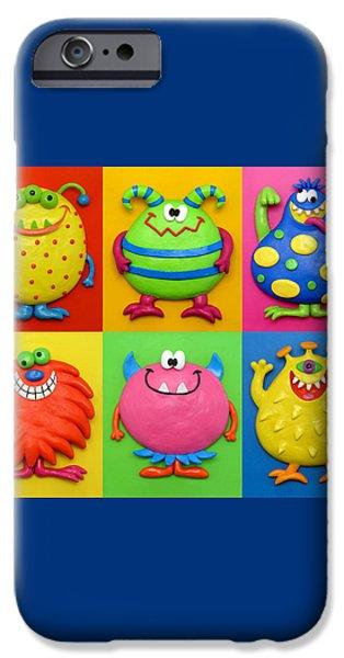Monsters iPhone Case by Amy Vangsgard