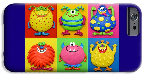 Child Sculptures iPhone Cases - Monsters iPhone Case by Amy Vangsgard
