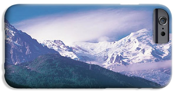 Snowy Day iPhone Cases - Mont Blanc France iPhone Case by Panoramic Images