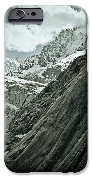 Adventure Photographs iPhone Cases - Mont Blanc Glacier iPhone Case by Frank Tschakert