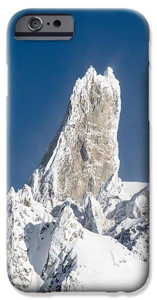 Snow Scene iPhone Cases - Mont blanc view dent du giant iPhone Case by Luca Venturelli
