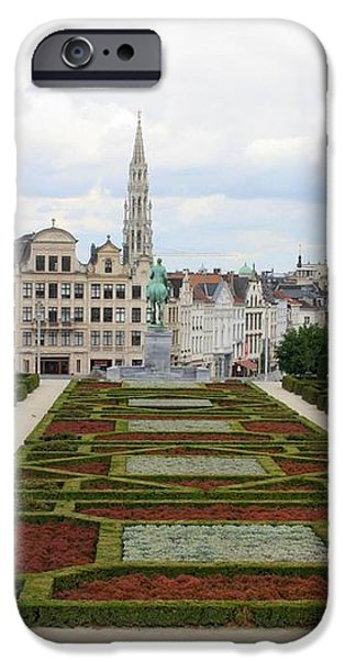 Mont des Arts towards the Grand Place iPhone Case by Carol Groenen