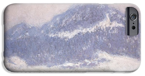 Mist Paintings iPhone Cases - Mont Kolsaas iPhone Case by Claude Monet
