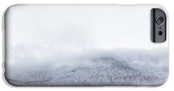 Winter Storm iPhone Cases - Mont Saint Hilaire  Lac Hertel On a Winter Day iPhone Case by Laurent Lucuix