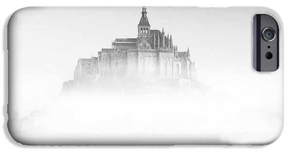Misty iPhone Cases - Mont Saint-Michel iPhone Case by Sebastian Musial