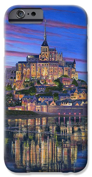 Mont Saint-Michel Soir iPhone Case by Richard Harpum