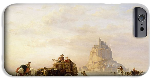 Approaching iPhone Cases - Mont St Michel iPhone Case by Edward William Cooke