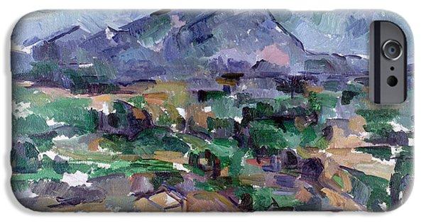 Midi iPhone Cases - Montagne Sainte-victoire, 1904-06 Oil On Canvas iPhone Case by Paul Cezanne