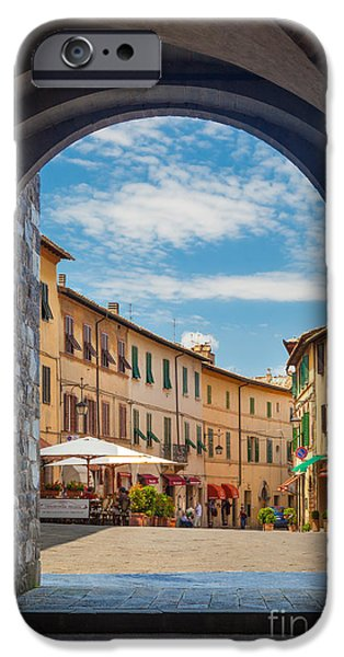 Opening iPhone Cases - Montalcino Loggia iPhone Case by Inge Johnsson