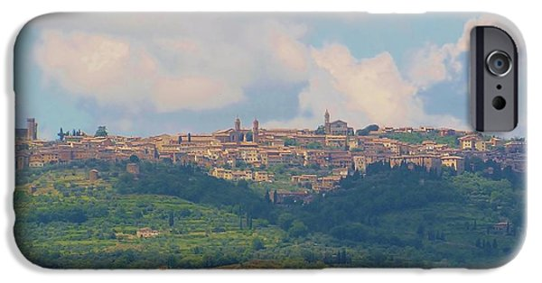 Tuscan Hills iPhone Cases - Montalcino iPhone Case by Marilyn Dunlap