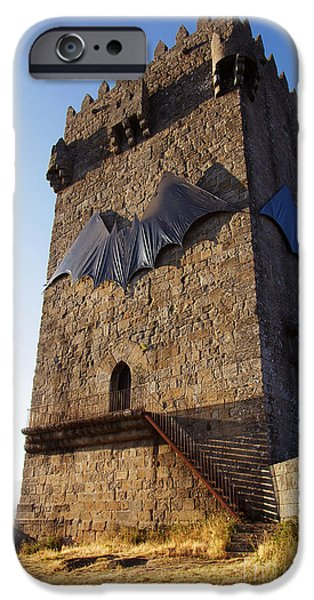 Ruin iPhone Cases - Montalegre Castle iPhone Case by Carlos Caetano