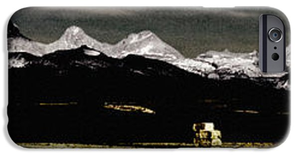 Grungy Pyrography iPhone Cases - Montana iPhone Case by Bruce Rolff