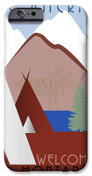Montana Digital iPhone Cases - Montana iPhone Case by Steven Boland