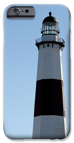 Montauk Lighthouse As Seen From the Beach iPhone Case by JOHN TELFER