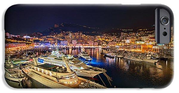 Pleasure iPhone Cases - Monte Carlo Harbor iPhone Case by John Greim