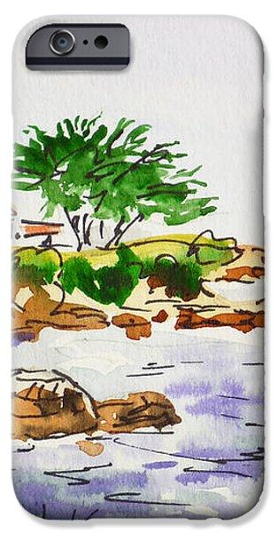 Monterey- California Sketchbook Project iPhone Case by Irina Sztukowski