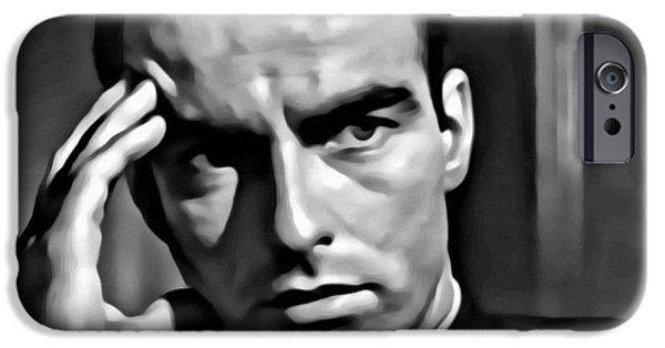 Montgomery iPhone Cases - Montgomery Clift iPhone Case by Florian Rodarte
