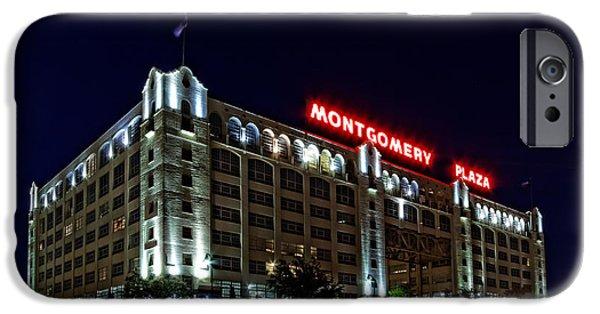 Montgomery iPhone Cases - Montgomery Plaza Fort Worth iPhone Case by Jonathan Davison