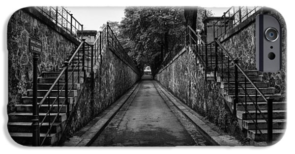 Graveyard Road iPhone Cases - Montmartre Cemetery iPhone Case by Nomad Art And  Design