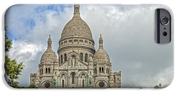 Abstract Digital Pyrography iPhone Cases - Montmartre iPhone Case by Mauro Celotti