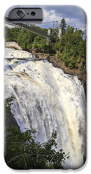 Niagara Falls iPhone Cases - Montmorency Falls Park Quebec City Canada iPhone Case by Edward Fielding