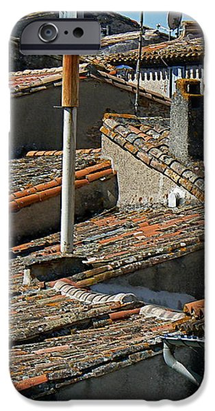 Tile Rooftops of France iPhone Case by FRANCE  ART