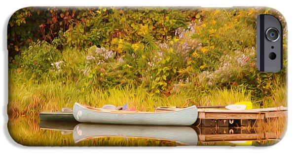 Canoe iPhone Cases - Montpelier Canoe iPhone Case by Deborah Benoit