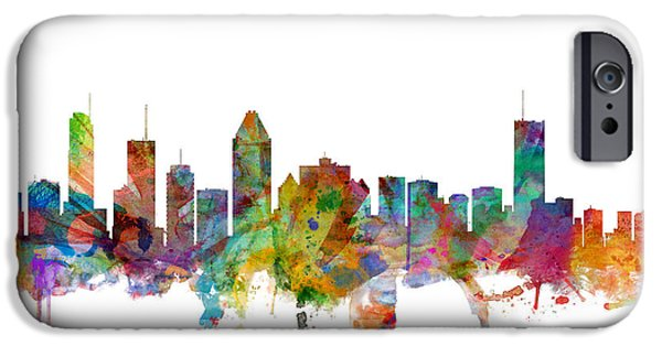 Montreal iPhone Cases - Montreal Canada Skyline iPhone Case by Michael Tompsett