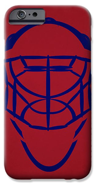 Montreal Canadiens iPhone Cases - Montreal Canadiens Goalie Mask iPhone Case by Joe Hamilton