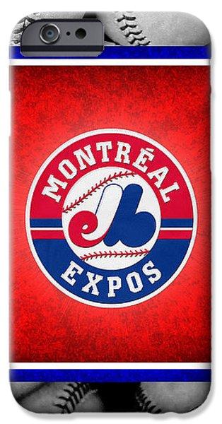 MONTREAL EXPOS iPhone Case by Joe Hamilton