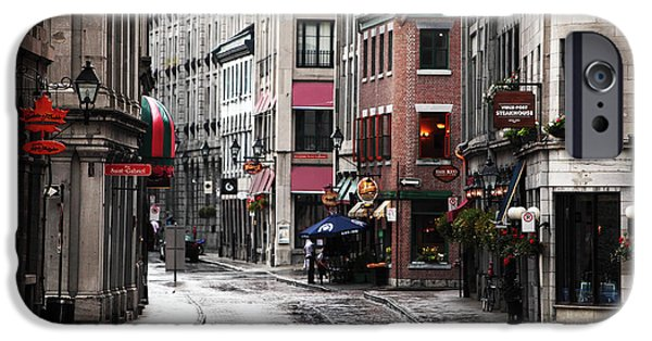 Interior Scene iPhone Cases - Montreal Street Scene iPhone Case by John Rizzuto